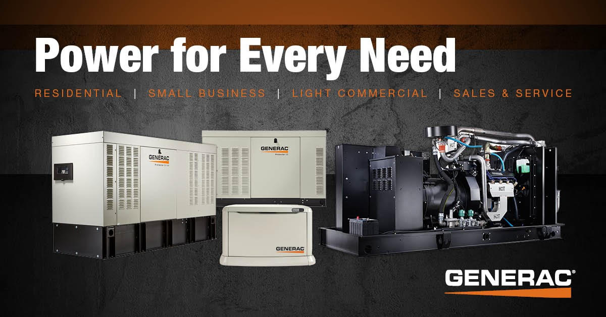 Residential Generators | Small Business Generators | Light Commercial Generators | Generator Sales & Service | Power for Every Need